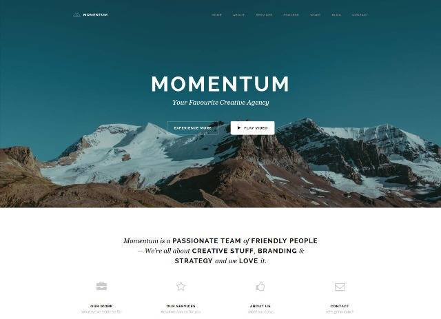 Momentum Simple Creative One Page Theme