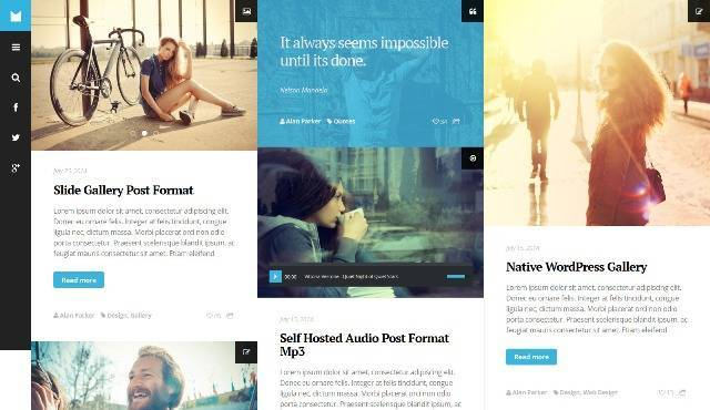 Mono Minimal, Modern and Grid Based Blog Theme