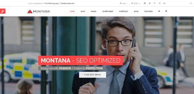 Montana Responsive Multipurpose WordPress Theme