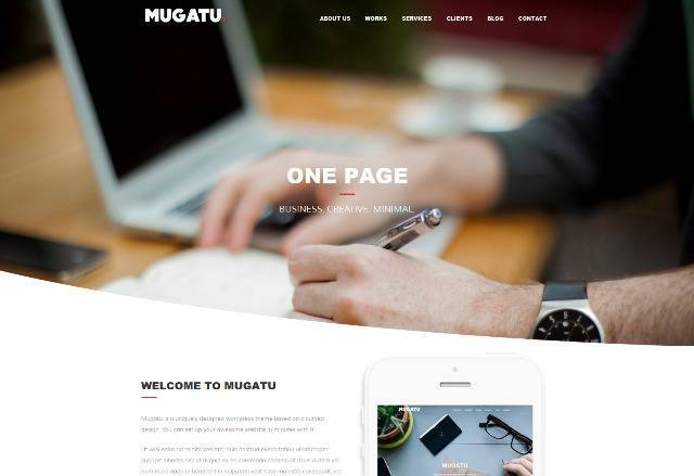 Mugatu One Page Multi-purpose WordPress Theme