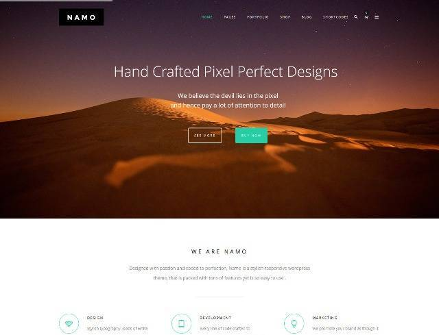 NAMO Creative Multi-Purpose WordPress Theme