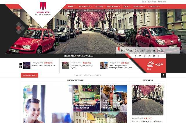 New Maxx WordPress blog theme