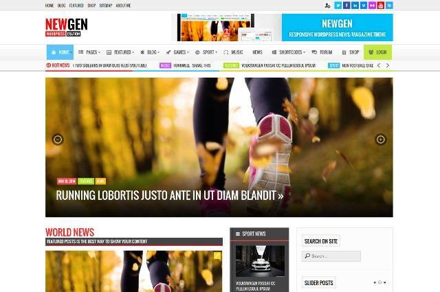 Newgen Responsive News/Magazine WordPress Theme
