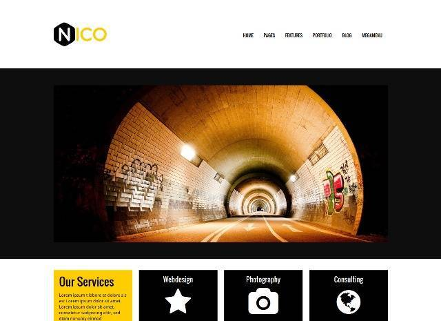 Nico a powerful WordPress Business & Portfolio Theme
