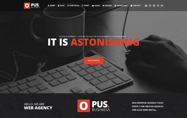 Opus Multipurpose Business WordPress Theme