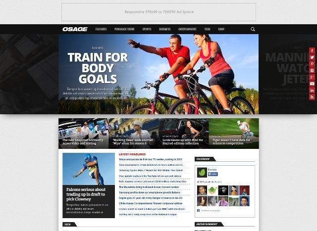 Osage Multi-Use WordPress Magazine Theme