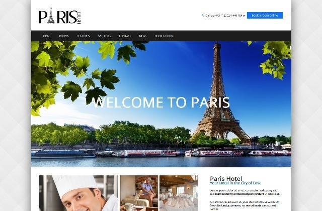 Paris a WordPress Travel & Hotel Theme