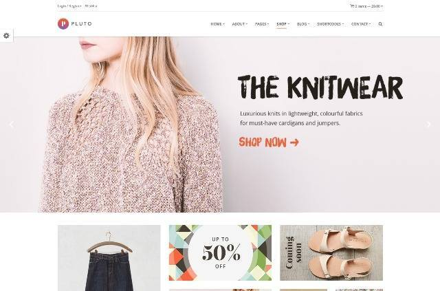 Pluto Multi-Purpose WooCommerce Theme