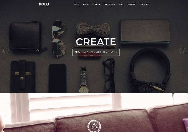 POLO WordPress One Page Responsive Portfolio