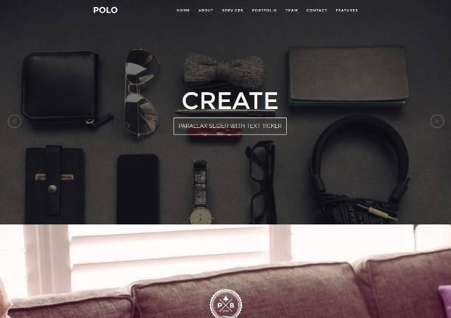 POLO WordPress One Page Responsive Portfolio