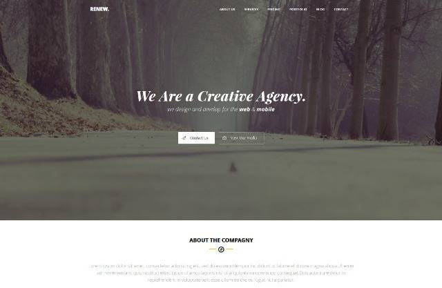 Renew Creative One Page WordPress Theme