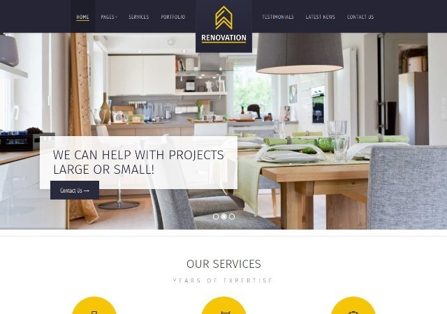 Renovation Construction Company Theme