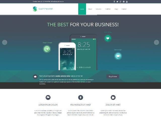 Sapphire Responsive Business WordPress Theme