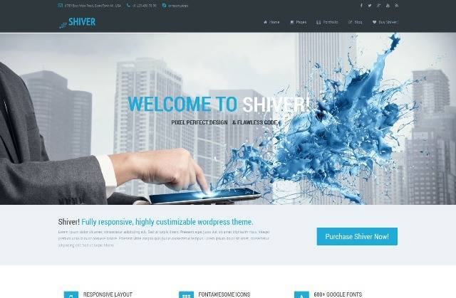 Shiver Responsive Multipurpose WordPress Theme