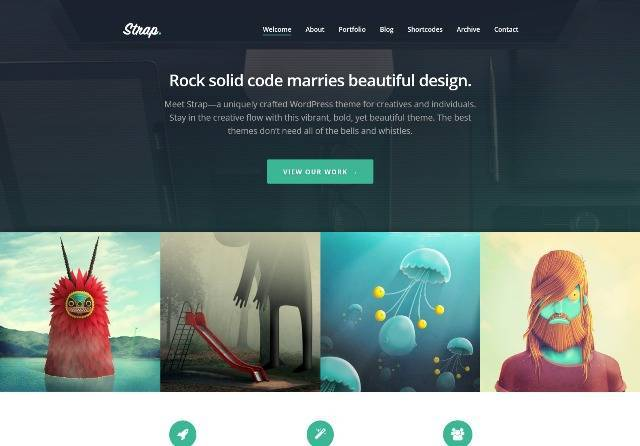 Strap WordPress Theme