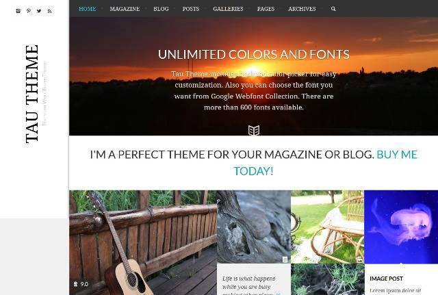 Tau Clean Review Magazine / Blog Theme