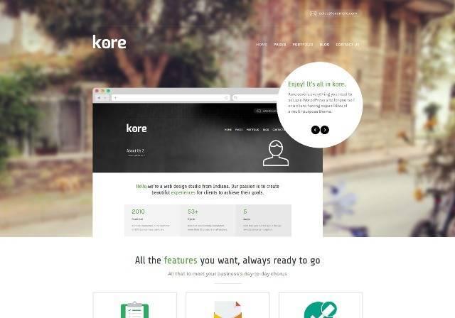 The Kore Responsive Business WordPress Theme
