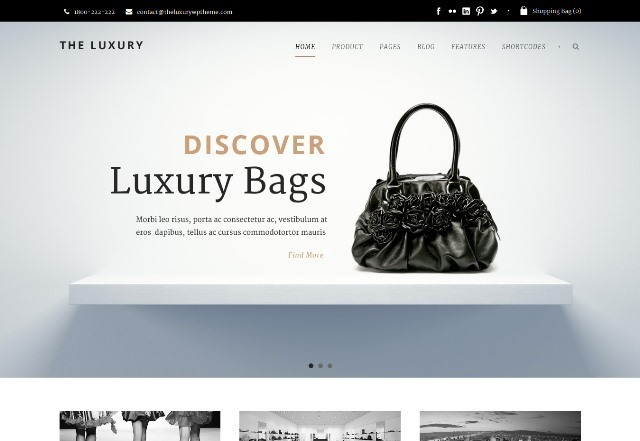 The Luxury Dark/Light Responsive WordPress Theme