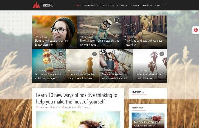 Throne - Personal Blog/Magazine WordPress Theme