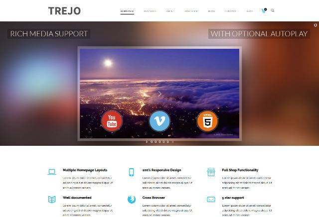 Trejo Multipurpose Responsive One Page WordPress Theme