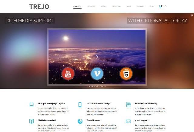 Trejo Multipurpose Responsive One Page WordPress Theme