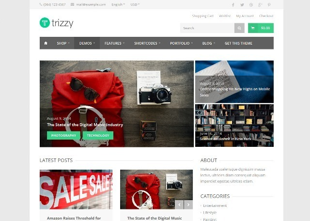 Trizzy Multi-Purpose WooCommerce WordPress Theme