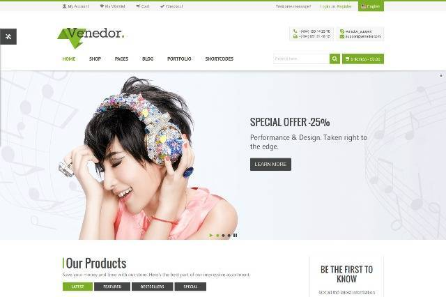 Venedor Ultimate WordPress + WooCommerce Theme