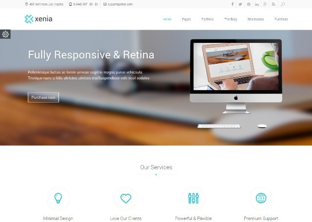 Xenia Refined WordPress Corporate Theme