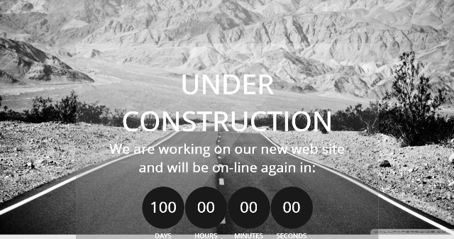 Construct Free Under Construction Template