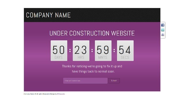 Franze Under Construction Template