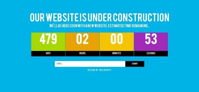 Grand free Under Construction Website Template