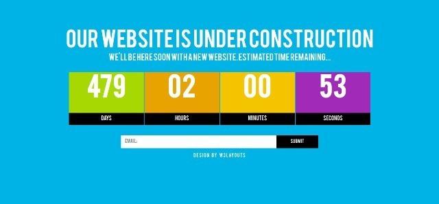 Grand free Under Construction Website Template