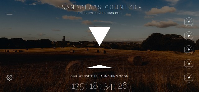 Sandglass fully responsive under construction template