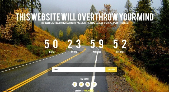 Soon free Under Construction Website Template