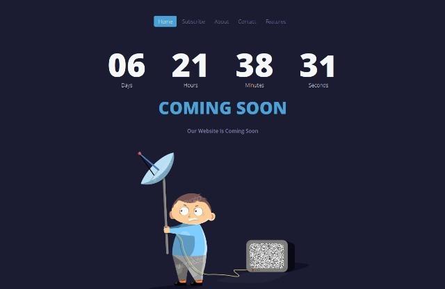 UkieBoy Animated Coming Soon Template