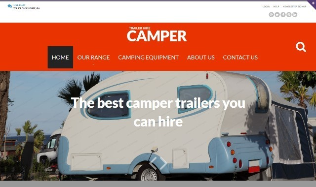Camping Travel HTML Website Template