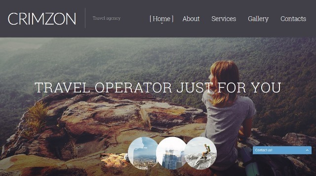 Crimzon Travel HTML template