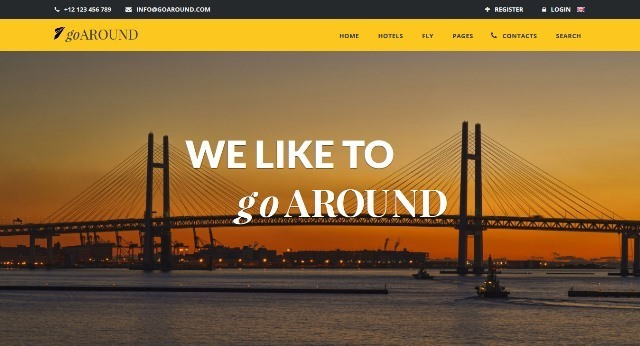 goAround Travel HTML Website Template