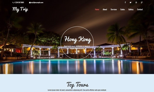 My Trip Free Travel Website Template