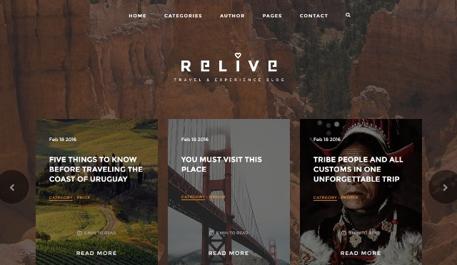 Relive Travel HTML Website Template