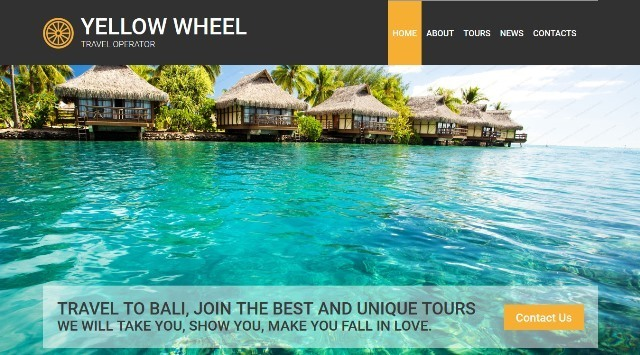 Travel Operator HTML Website Template
