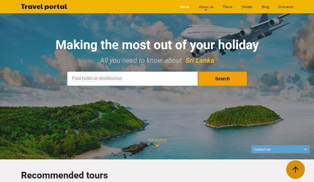 25+ Free and Premium HTML Travel Website Templates - Webprecis
