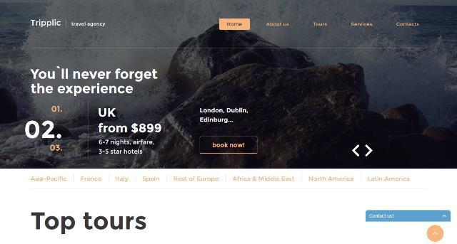 Tripplic Tour Operator Website Template