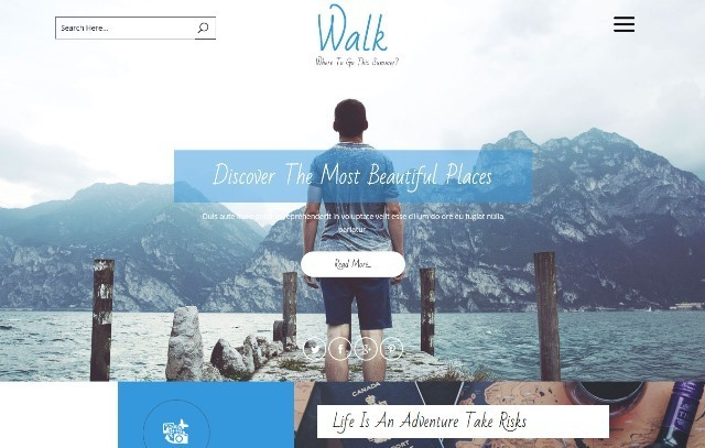 Walk Tourist Planners HTML Website Template