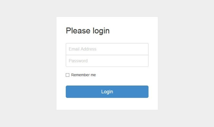 Bootstrap Login Form Template
