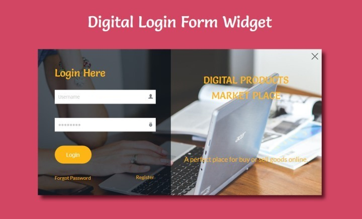 Digital Responsive Login Form Template