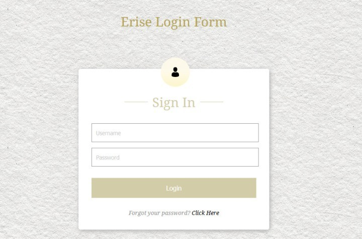 Erise Responsive Login Form Template