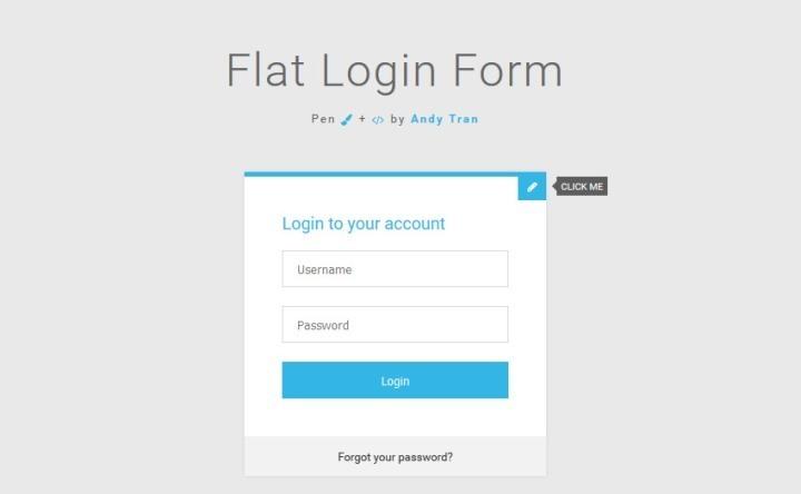 Flat Login Form 3.0