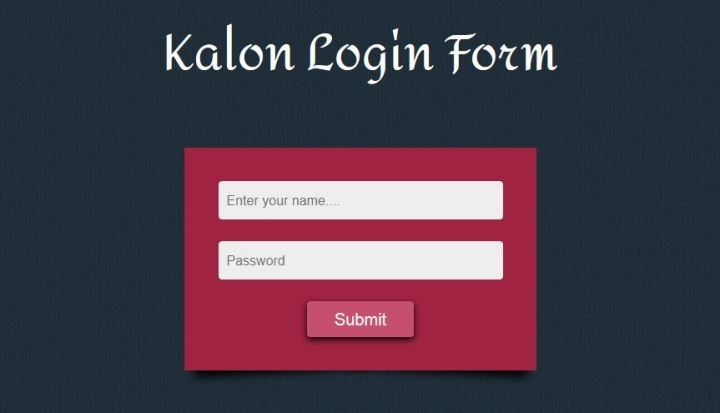 Kalon Responsive Login Form Template