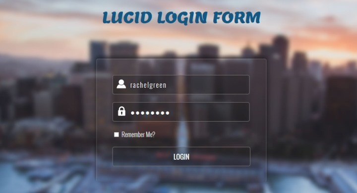 Lucid Responsive Login Form Template